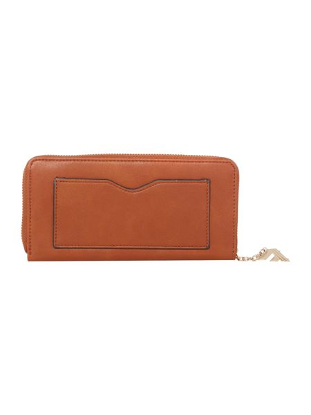 Fiorelli City tan zip around purse