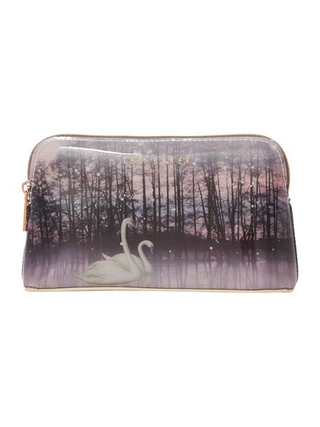 Ted Baker Loisa neutral small swan makeup bag