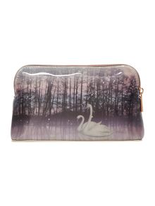 Ted Baker Loisa neutral small swan cosmetic bag