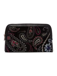 Ted Baker Malliy black large trinkets cosmetic bag