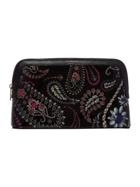 Ted Baker Malliy black large trinkets makeup bag