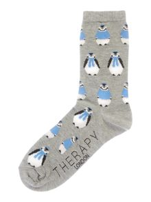 Therapy All over penguin sock