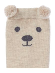 Therapy Pom pom ear bear sock