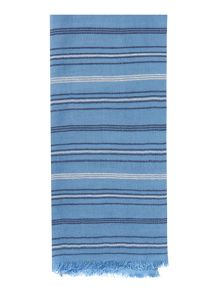 Dickins & Jones Woven Stripe Textured Scarf
