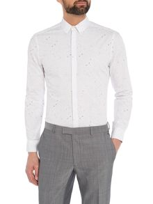 Kenneth Cole Craft Paper Print Shirt