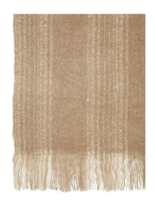 Label Lab Textured stripe scarf