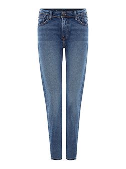 505 High Rise straight leg jean in atomic