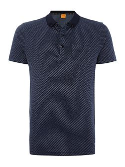 Picktown knitted jersey fleck polo