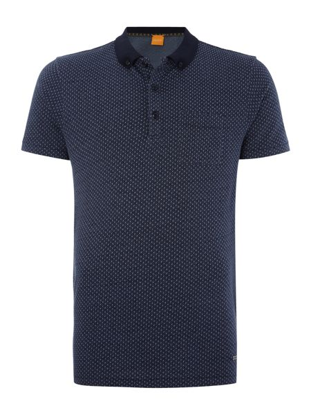 Hugo Boss Picktown knitted jersey fleck polo