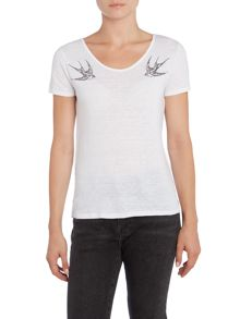 Levi's Short sleeve swallows printed tee