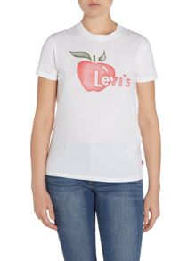 Levi's Short sleeve vintage logo tee in apple white