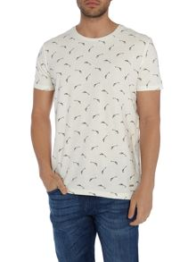 Hugo Boss Thien all over gun print t shirt