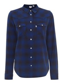 Levi's Long sleeve plaid shirt in liquorice original