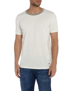 Hugo Boss Tanzy textured crew neck t shirt
