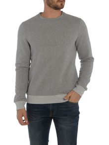 Hugo Boss Woorth embossed logo sweat top