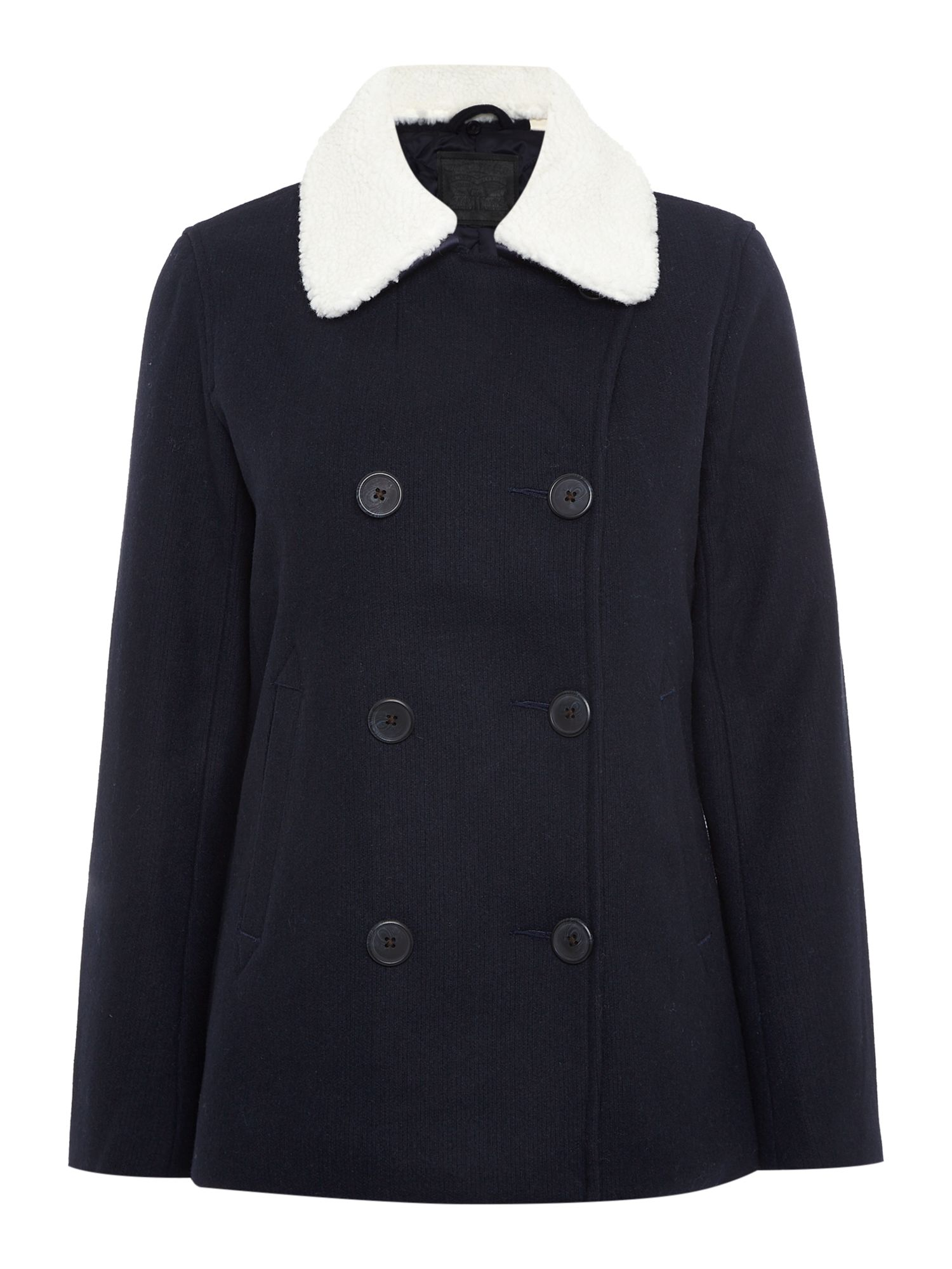Levi's Wool peacoat in nightwatch blue, Blue