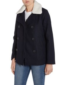 Levi's Wool peacoat in nightwatch blue