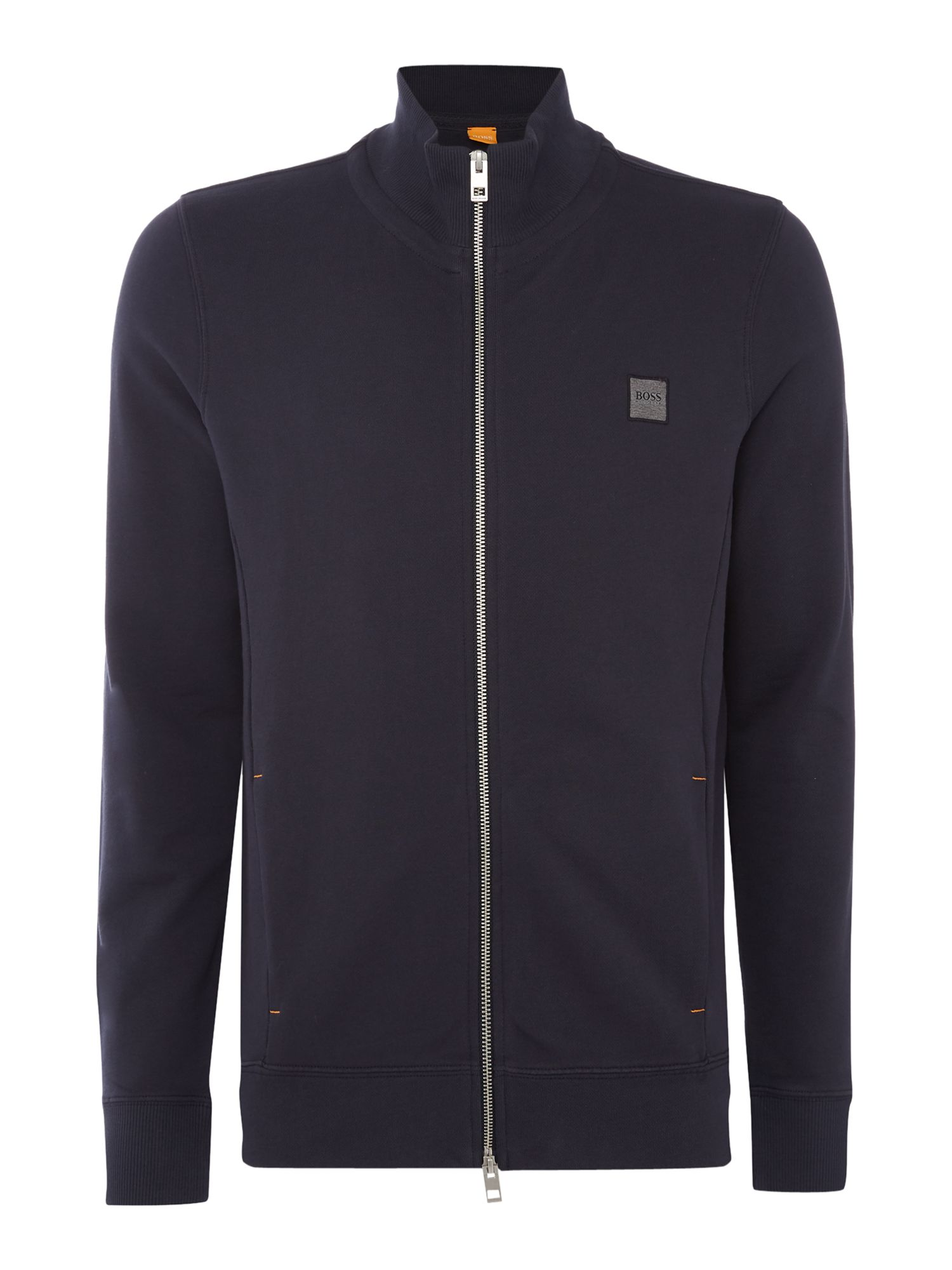 Men's Hugo Boss Zissou zip through funnel neck sweat top, Blue