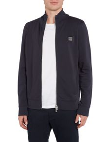 Hugo Boss Zissou zip through funnel neck sweat top