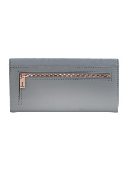 Ted Baker Anneth grey large flapover purse