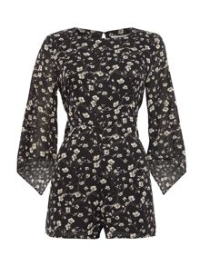 LYDC Long Sleeved Printed Playsuit