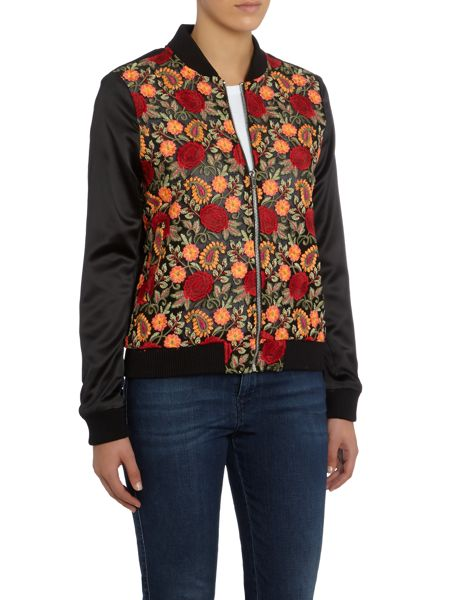 LYDC Long Sleeved Printed Bomber Jacket