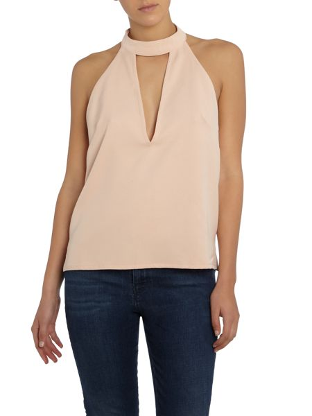 LYDC Halter Neck Cut Out Open Back Top