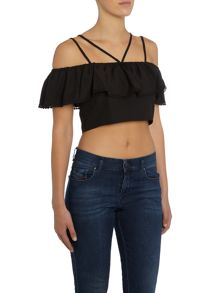 LYDC Bardot Crop Top