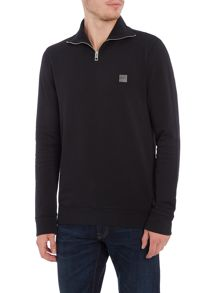 Hugo Boss Zprite zip collar funnel neck sweat top