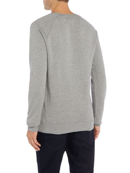 Hugo Boss Wheel 2 pocket crew neck sweat top