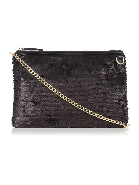 Therapy Rosie sequin clutch bag