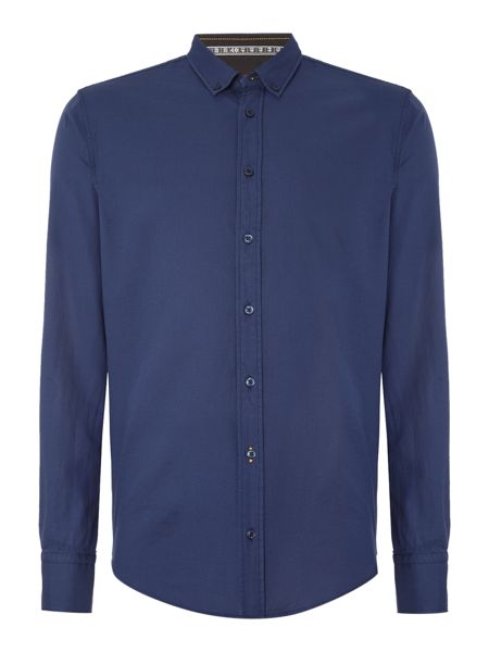 Hugo Boss Edipoe button down diamond texture shirt