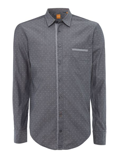 Hugo Boss Cieloebue regular fit chambray dobby shirt