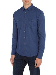 Hugo Boss EdoslimE brushed cotton long sleeve shirt