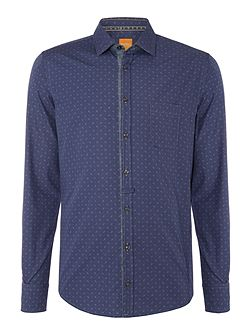 EslimE all over paisley print shirt