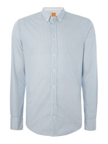 Hugo Boss EdipoE all over micro geo print shirt