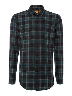 ElongE long line madras flannel check shirt