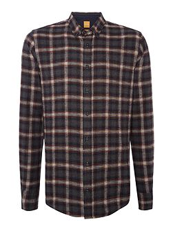 EdipoE brushed grandad check shirt