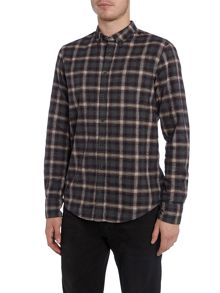 Hugo Boss EdipoE brushed grandad check shirt