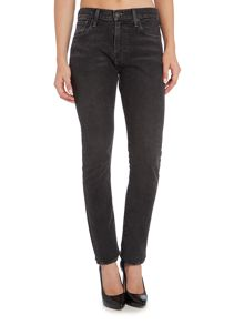 Levi's 505 High Rise straight leg jean in dee dee