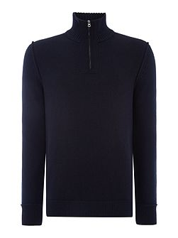 Kwemare wool mix zip funnel neck jumper