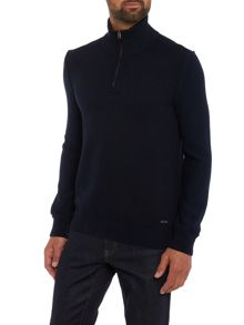 Hugo Boss Kwemare wool mix zip funnel neck jumper