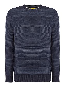 kastar lambswool stripe crew neck jumper