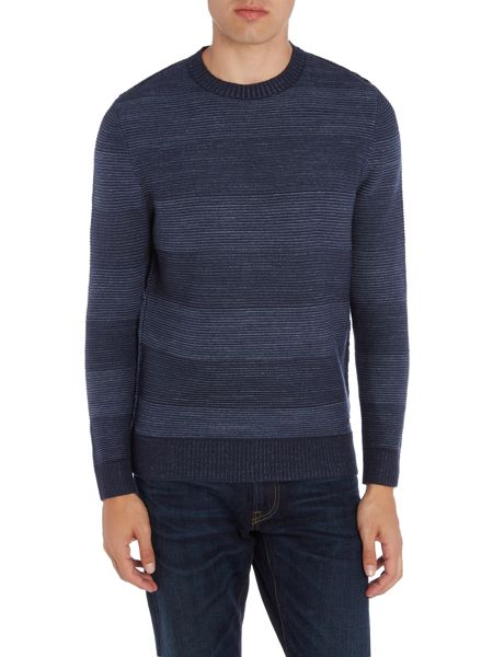 Hugo Boss kastar lambswool stripe crew neck jumper