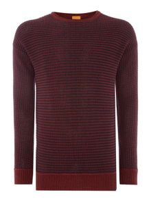 Hugo Boss Arkuso textured knit crew neck jumper