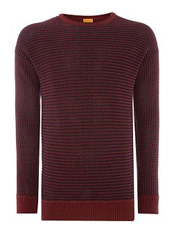 Arkuso textured knit crew neck jumper