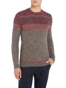 Hugo Boss Agruade slub pattern knitted crew neck jumper