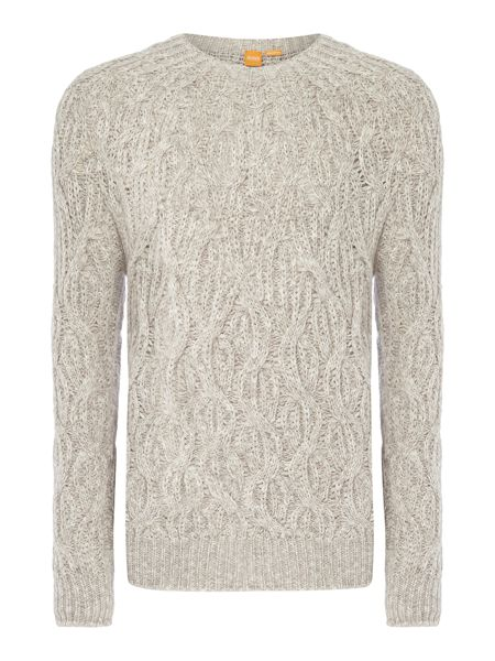 Hugo Boss Kradull chunky cable knit crew neck jumper