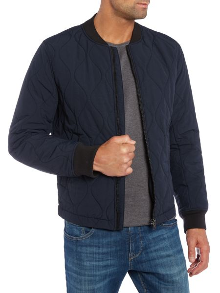 Hugo Boss Okenzie lightweight quilted bomber jacket