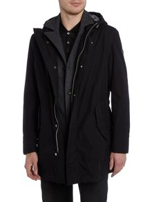 Hugo Boss Orhys 2 in 1 hoodied parka jacket